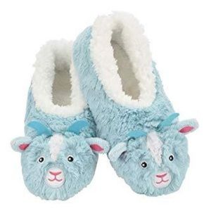 Kids Snoozies Slippers - Goat